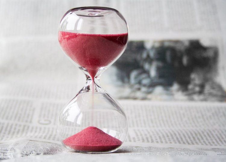 A sand timer showing the significance of time