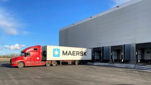 Maersk cold store in St. Petersburg in Russia