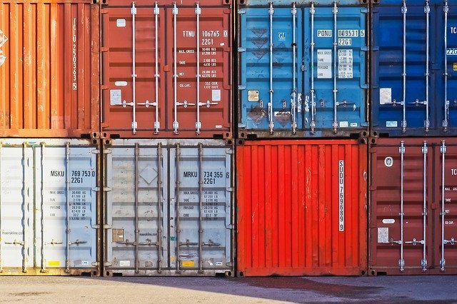 container at port
