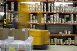 Inventory on warehouse shelves